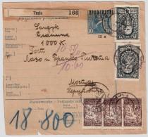 1920, Parcel Card , Tuzla To Mostar  , #5957 - 1919-1929 Königreich Der Serben, Kroaten & Slowenen