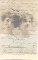 HERMANAS HENGLER  CABARETERAS Y UN MENSAJITO DE AMOR FIRMADO POR JUAN GRISOLIA QUIEN FUE INTENDENTE DE CHIVILCOY CIRCA - Autographes