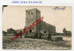 AMEL SUR L´ETANG-Abreuvoir-Ambulance-CARTE PHOTO Allemande-Guerre 14-18-1 WK-France-55-Feldpost- - France