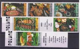 POLY-38 - POLYNESIE N° 261/62 + 278/79 + 295/96 Neufs** Plats Polynésiens - Polynésie Française