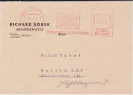 All Bes Britische Zone Aptierter Freistempel Kte Braunschweig 1945 - American/British Zone