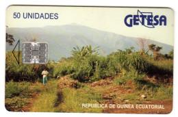GUINEE EQUATORIALE REF MV CARDS EQG-07 LANDSCAPE