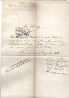 DOK71 ÖSTERREICH 1866 QUITTUNG Aus 1866 Mit STEMPELMARKEN 3 Und 10 KREUZER SIEHE ABBILDUNG - Österreich