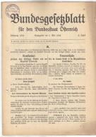 DOK73 ÖSTERREICH 1934 BUNDESGESETZBLATT KONKORDAT HEILIGEN STUHL Und ÖSTERREICH SIEHE ABBILDUNG - Historische Dokumente