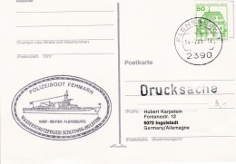 Germany Card P/m Flensburg 1985 Polizeiboot Fehmarn (SKO10-48) - Policia – Guardia Civil