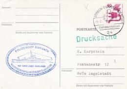 Germany Card P/m Lübeck-Travemünde 1976  Polizeiboot Birknack  (SKO10-48) - Politie En Rijkswacht