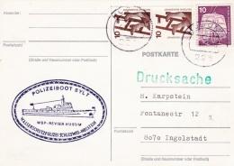 Germany Card P/m Husum 1976  Polizeiboot Sylt  (SKO10-48) - Police - Gendarmerie