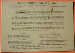 CARTE LOU COEUR DE MA MIO - VIEILLE CHANSON - LIMOGES - LIMOUSIN - SCANS RECTO VERSO - 7 - Limoges