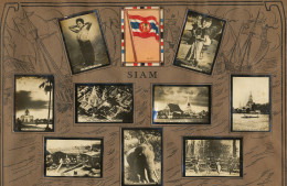 Set Of 13 Pictures Siam Advert Tabacalera Cubana Cuba Flag Temples Elephant Royal Boat  - Tailandia