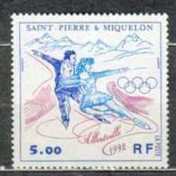 SAINT PIERRE ET MIQUELON MNH ** 559 JEUX OLYMPIQUES D'HIVER ALBERTVILLE 1992 Couple De Patineurs - St.Pierre & Miquelon