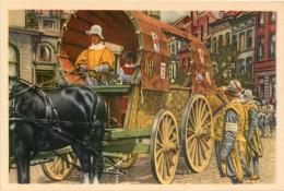 Image Folklore Belge - Folklore Côte D'Or N° 55 - Bruxelles - L'Ommegang Reconstitué En 1935 Le Chariot De Voyage .... - Sonstige