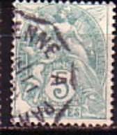 FRANCE - 1900 - 1920 - Blanc - 5c Obl. Yv No 111 - 1900-29 Blanc