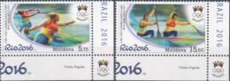 """Moldova 2016 """"XXXI Summer Olympic Games. Rio De Janeiro"""" 2v Quality:100% - Summer 2016: Rio De Janeiro"""