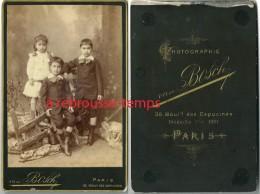 Grand CDV (Cabinet) Vers 1881-beau Groupe D´enfants-mode Fin XIXe-par Van Bosch Bd Des Capucines à Paris - Photos