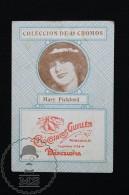 Old Cinema/ Movie Topic Advertising Playing Card/ Chromo - Actress Mary Pickford - Documentos Antiguos