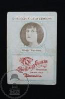 Old Cinema/ Movie Topic Advertising Playing Card/ Chromo - Actress Gloria Swanson - Documentos Antiguos