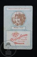 Old Cinema/ Movie Topic Advertising Playing Card/ Chromo - Actress Helene Darly - Documentos Antiguos