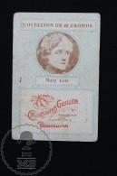Old Cinema/ Movie Topic Advertising Playing Card/ Chromo - Actress Mary Carr - Documentos Antiguos