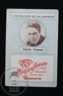Old Cinema/ Movie Topic Advertising Playing Card/ Chromo - Actor: Dustin Farnum - Documentos Antiguos