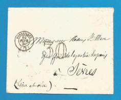 France - LSC Non Affranchie Cachet-taxe 30 Cts De VERSAILLES à SEVRES Du 10/2/60 - 1849-1876: Classic Period