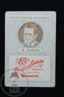Old Cinema/ Movie Topic Advertising Playing Card/ Chromo - Actor: H. Rawlinson - Documentos Antiguos