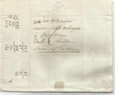 Lettre De BAR-LE-DUC   53 - Du 22 Septembre  1816 Pour Le Duché De Bouillon Département Des Ardennes. - Marcophilie (Lettres)