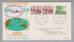Australien Cocos (Keeling) Islands 1963-06-11 FDC - 1952-65 Elizabeth II : Ed. Pré-décimales