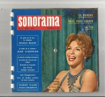 SONORAMA 17 DE MARS 1960 COUVERTURE LINE RENAUD (6 DISQUES 45 TOURS SOUPLES) - Collector's Editions