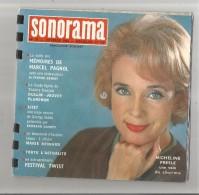 SONORAMA N° 37 DE FEVRIER 1962 COUVERTURE MICHELINE PRESLE (5 DISQUES SOUPLE RECTO VERSO) - Collector's Editions