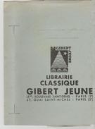 PROTEGE CAHIER BLEU  GIBERT JEUNE 15 Bis Bd Saint Denis Paris 2° Et 27 Quai Saint Michel Paris 5° - Protège-cahiers