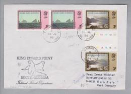 Amerika Falkland Island Dependance 1986-07-30 Brief Nach Meeder DE Mit Zwischensteg - Falkland