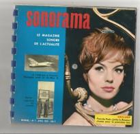 SONORAMA N° 7 D'AVRIL 1959 COUVERTURE PASCALE PETIT (JULIE LA ROUSSE) 6 DISQUES SOUPLES - Collector's Editions