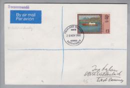 Amerika Falkland Island Dependencies 1980-11-25 R-Brief Mit 3£-Marke - Falkland