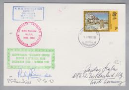 Amerika Falkland Island Dependencies 1981-04-09 Beleg Mit 7P. + Unterschriften - Falkland