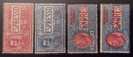 REGNO ESPRESSI 1925-26 I QUATTRO VALORI PERFETTI * - Mint/hinged