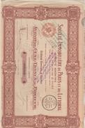 ACTION 100 FRANCS N° 009868 SOCIETE IMMOBILIERE DE PARIS ET DU LITTORAL - G - I