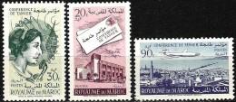 Maroc 1961 - Conférence Postale Pour L´Afrique à Tanger - Neufs** MNH  - Scott N° 56 à 57A - Maroc (1956-...)