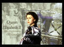Papua New Guinea 1069 Elizabeth Coronation 50th Souvenir Sheet Block MNH 2003 A04s - Papua-Neuguinea