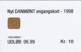 Denmark, DT017, Danmont Test Card, Nyt Engangskort 1998 10 Kr, 2 Scans - Danemark