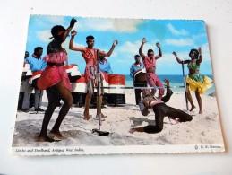 Carte Postale Ancienne : ANTIGUA, West Indies : Limbo And Steelband, In 1971 - Antigua & Barbuda