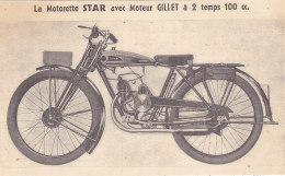 La Motorette STAR Avec Moteur GILLET à 2 Temps 100 Cc (Lummerzheim, Liège) - Moto