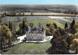 58 - SAINT PIERRE LE MOUTIER :  Vue Aéeinne Du Chateau De Beaumont - CPSM Dentelée Colorisée GF - Nièvre - Saint Pierre Le Moutier