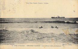Côte D'Ivoire - Grand-Lahou - Le Retour Des Pêcheurs En Pirogues - Cliché G. Kante - Côte-d'Ivoire