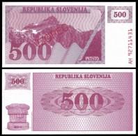 Slovenia 500 TOLARJEV VZOREC 1990 P 8s1 UNC  SLOVENIE - Slovénie