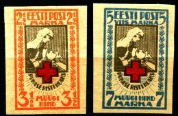 Estonia , Estonie , Estland  1921 Roter Kreuz Michel 29  IMPERFORATED MINT HINGED  MNH - Estonia