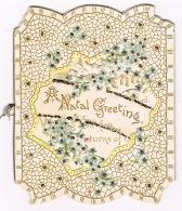 RB 1116 - Early Die Cut Ornate Natal Christmas Xmas Greetings Card By Fannie Goddard - Christmas