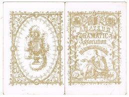 RB 1116 - 1878 Birmingham Amateur Dramatic Assoc. The Hunchback - Royal Hotel Temple Row - Programs