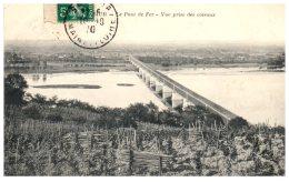 49 SAUMUR - Le Pont De Fer - Vue Prise Des Coteaux  (Recto/Verso) - Saumur