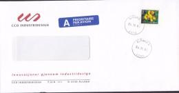 Norway A PRIORITAIRE Par Avion Label CCD INDUSTRIDESIGN, ÅLSGÅRD 2002 Cover Brief 7.00 Kr Flower Blume Stamp - Norwegen