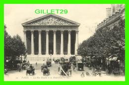 PARIS (75) - LA RUE ROYALE ET LA MADELEINE - LL. - ANIMÉE - DOS VERT - - Other Monuments